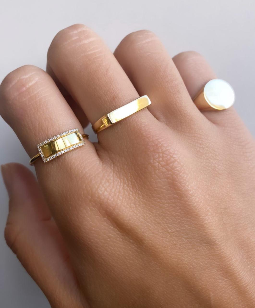 Anel Signet Little Finger Ouro 18k