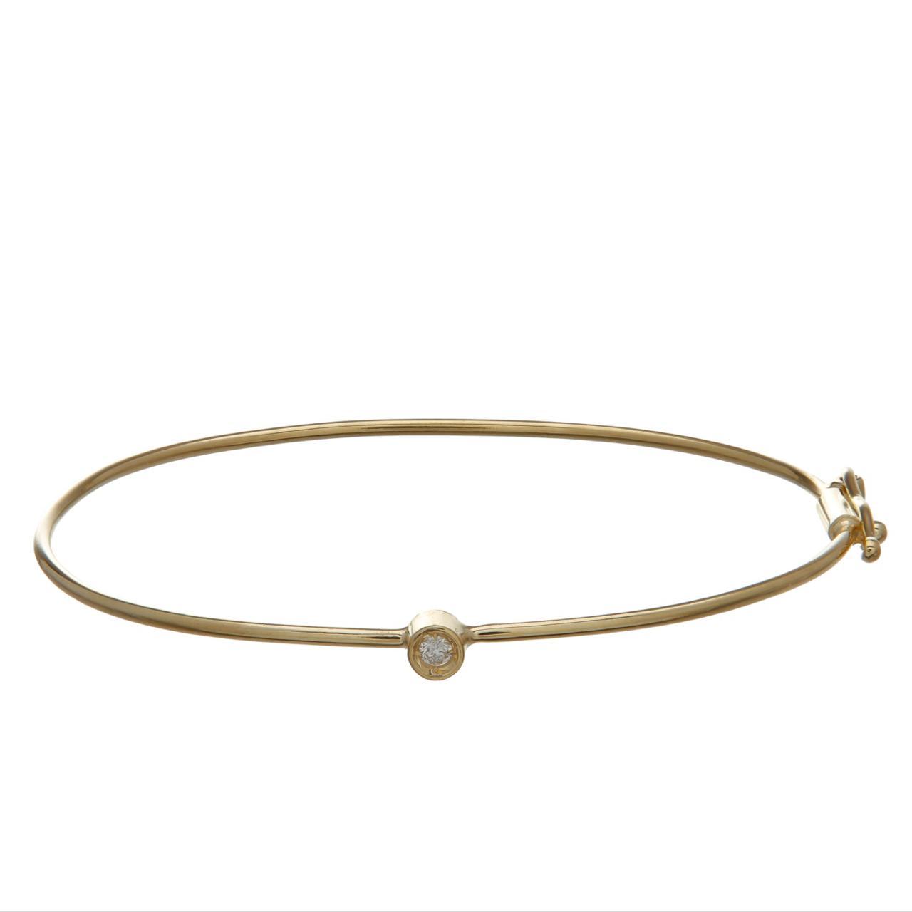 Bracelete infantil Ouro 18k com Diamante