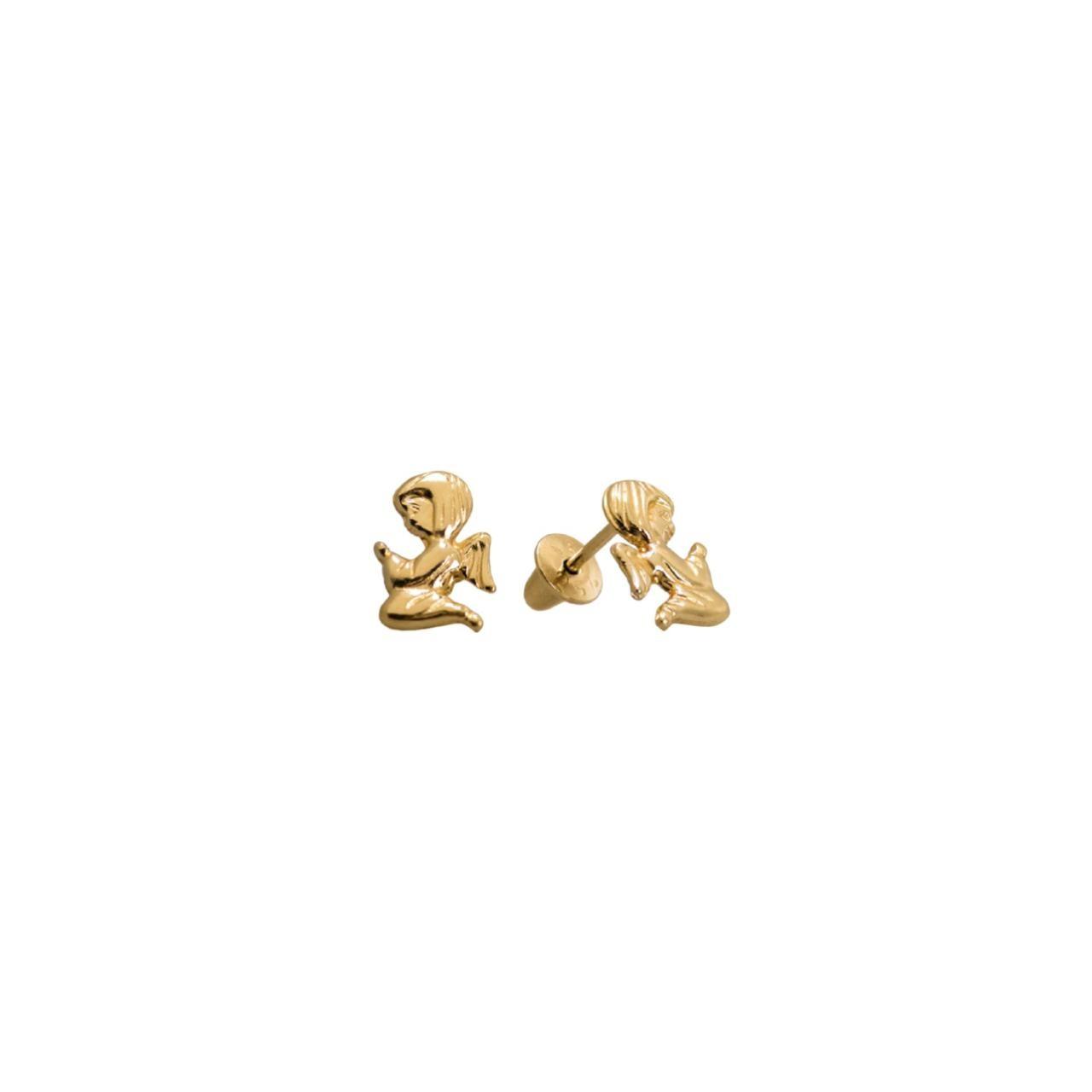 Brincos Anjos em Ouro 18k