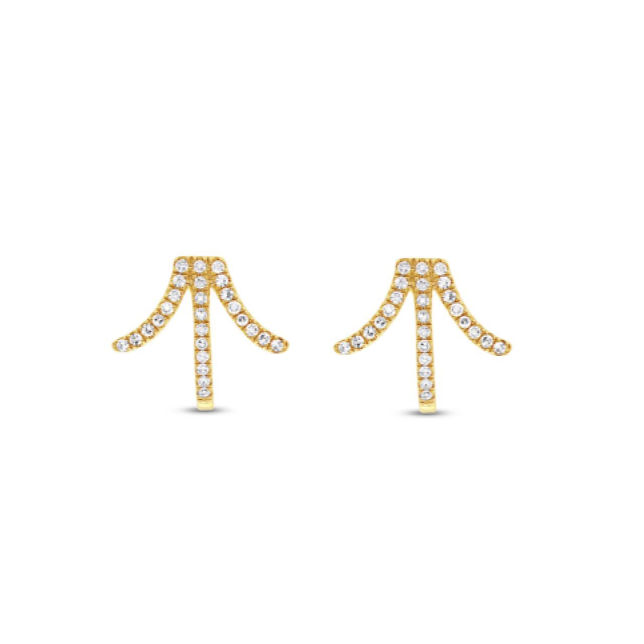 Brincos Atlantis Ouro 18k com Diamantes