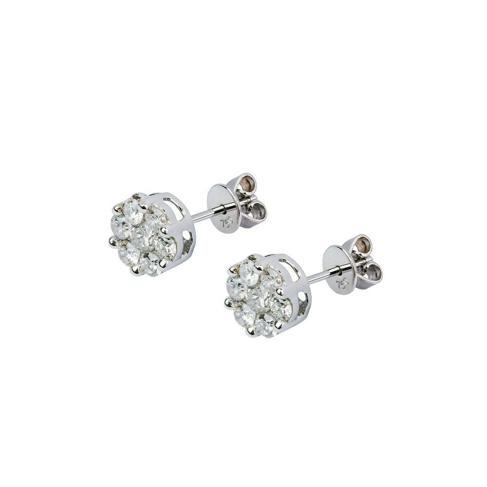 Brincos Chuveiros de Diamantes