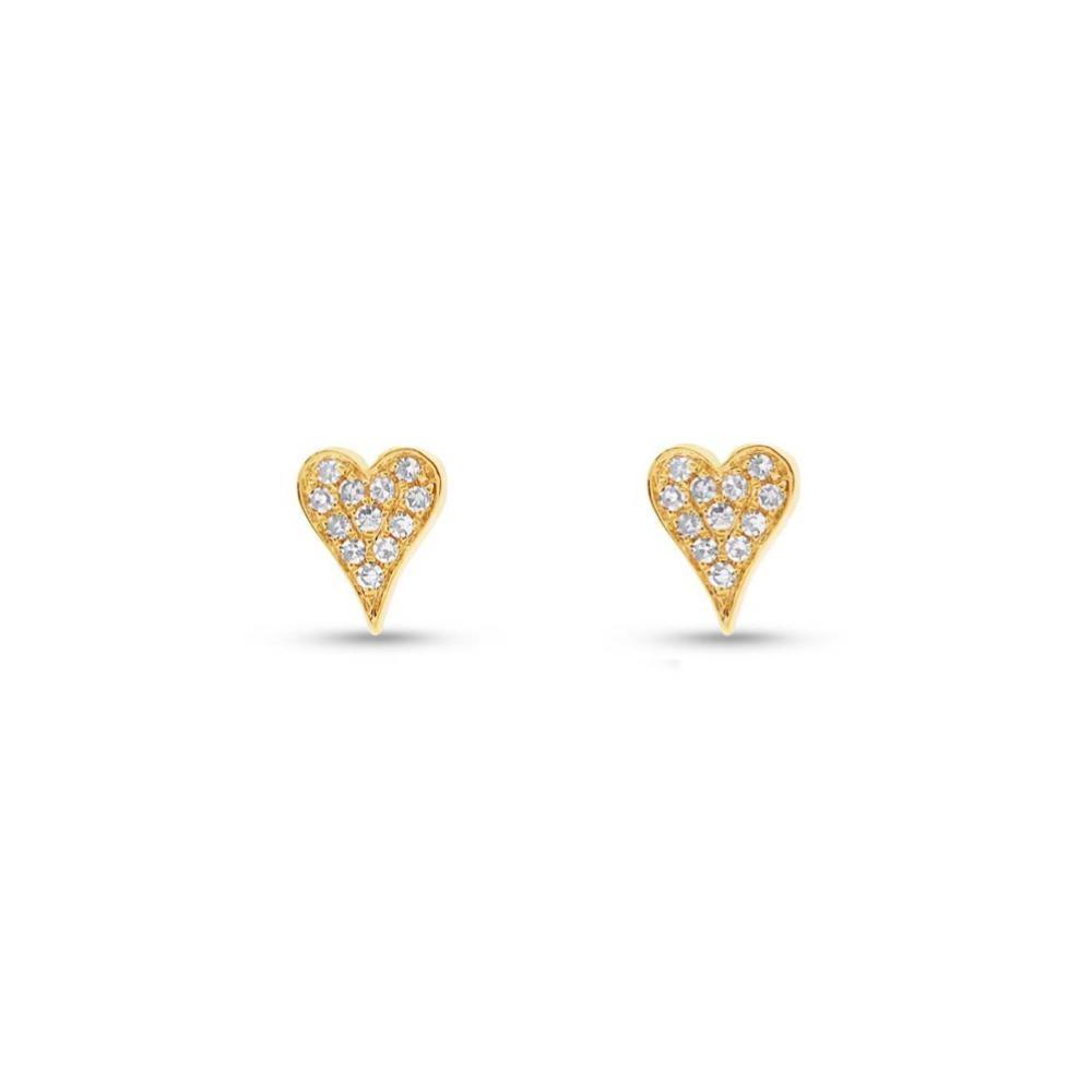 Brincos Mini Hearts Ouro 18k com Diamantes