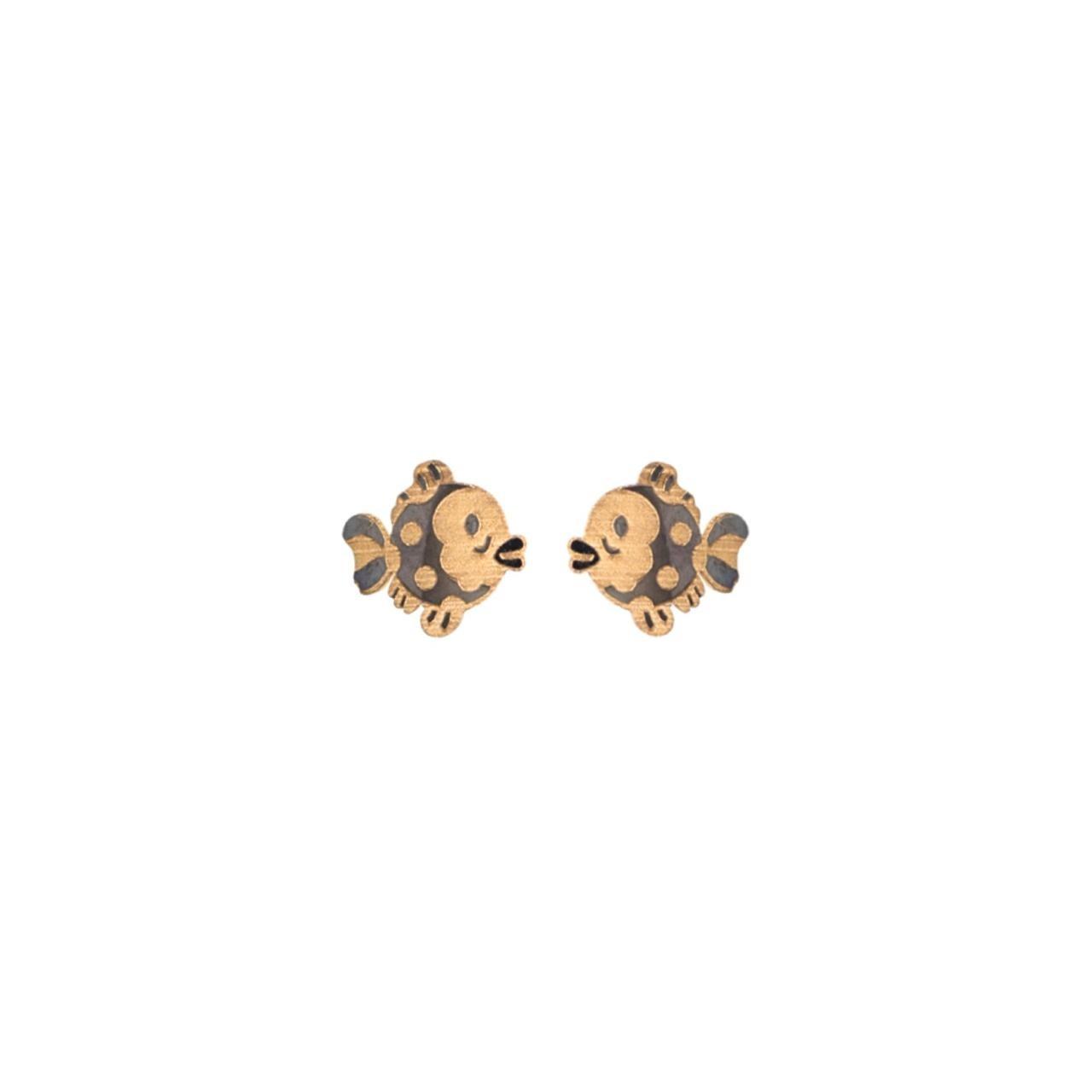 Brincos Peixinhos em Ouro 18k