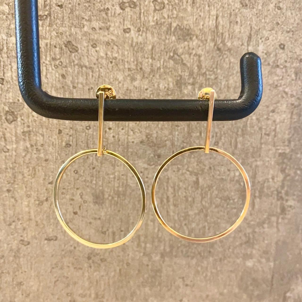 Brincos Pêndulo em Ouro 18k