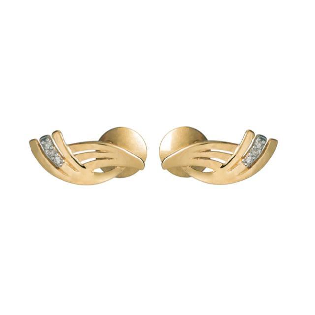 Brincos Wings em Ouro 18k com Diamantes