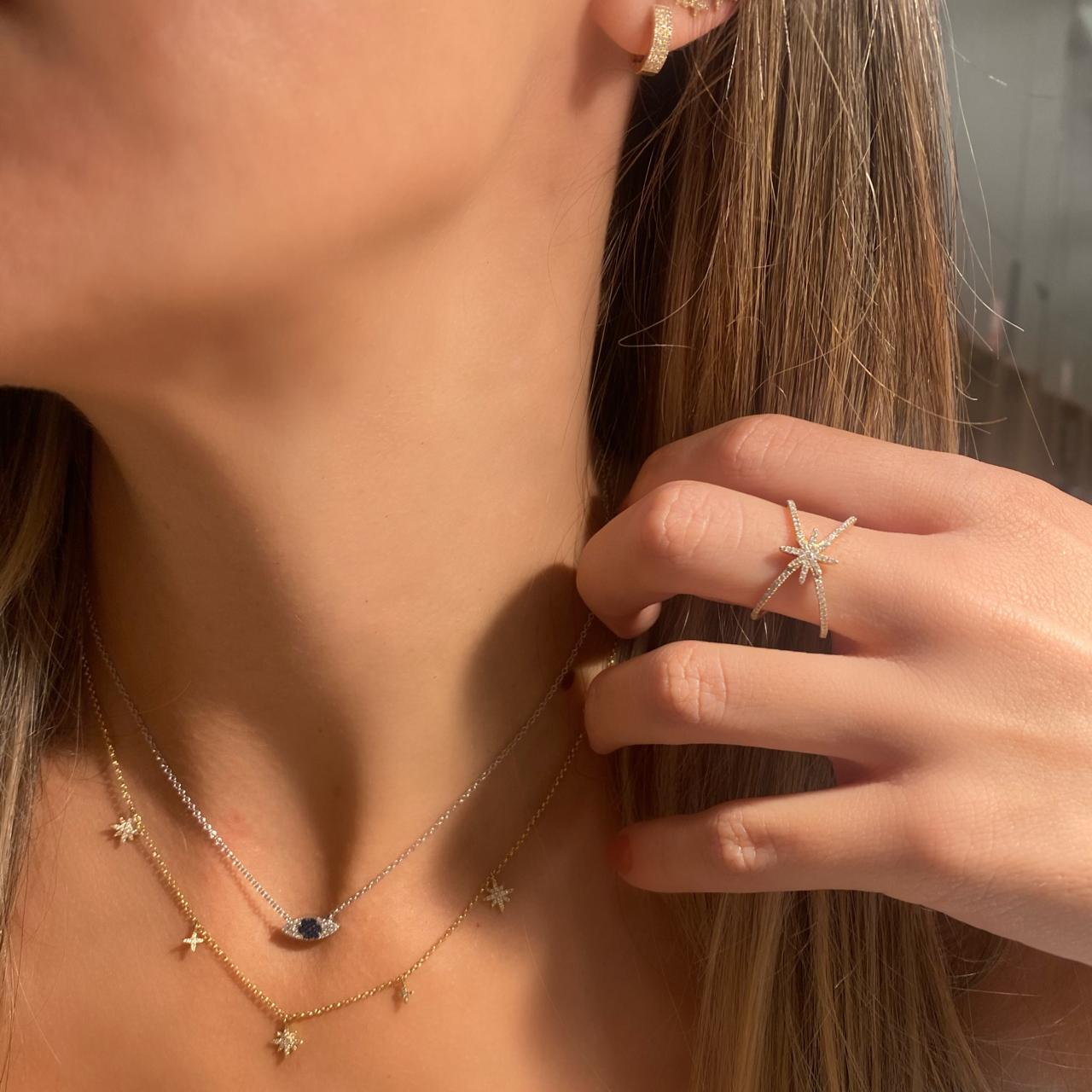 Choker Stars Ouro 18k e Diamantes