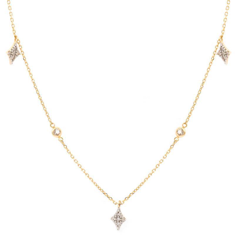 Gargantilha Naipes em Ouro 18k com Diamantes