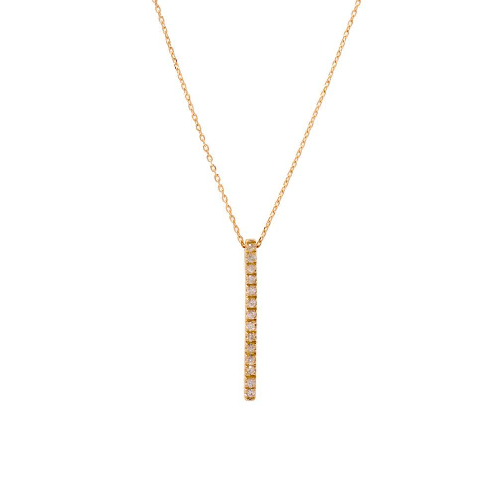 Gargantilha Minimal Ouro 18k com Diamantes