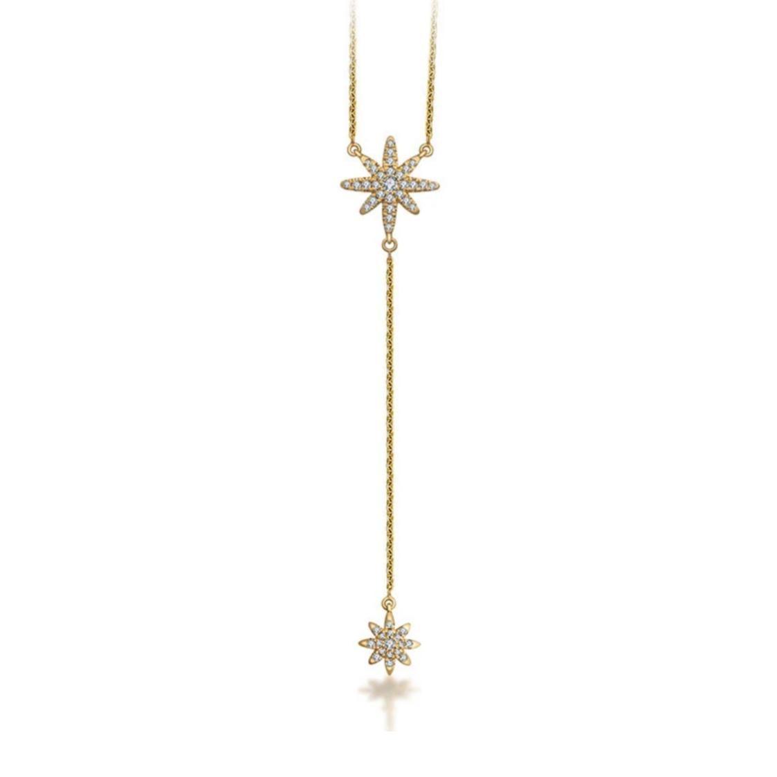 Gargantilha Shiny Star Y Ouro 18k e Diamantes