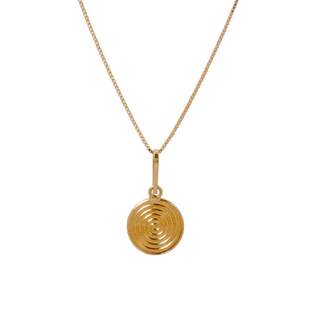 Gargantilha Espiral em Ouro 18k