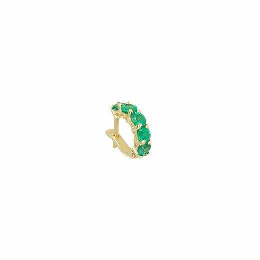 Piercing Esmeraldas em Ouro 18k