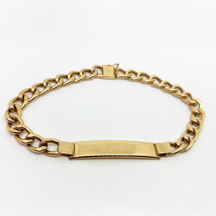 Pulseira Placa Masculina Ouro 18k