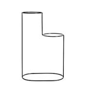 Aramado Preto Cascata Para 2 Vasos - 02