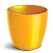Cachepo Elegance Redondo 03 Amarelo