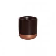 Cachepot P Marrom E Bronze 6013