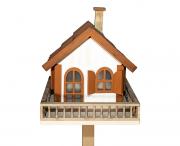 Casa Pássaro Em Pinho Para Jardim E Varanda - Branco