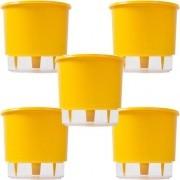Kit 5 Vasos Autoirrigavel 02 Amarelo