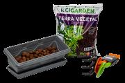 Kit Horta Jardineira 35 Cinza