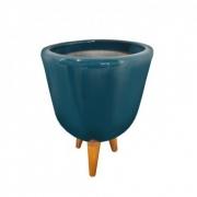Ppa. Azul Turq. V. Esc. Com Pé- Americano A17 Ds19 B11