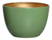 Vaso De Chão Verde e Dourado G Novel - 5749
