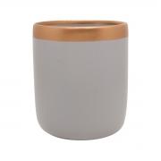 Vaso Para Suculenta Cinza e Bronze M Nove - 5764