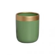 Vaso Para Suculenta Verde e Dourado M Nove - 5755