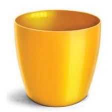 Cachepo Elegance Redondo 02 Amarelo