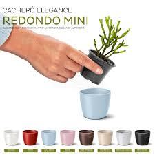 Cachepo Elegance Redondo Mini Preto Onix