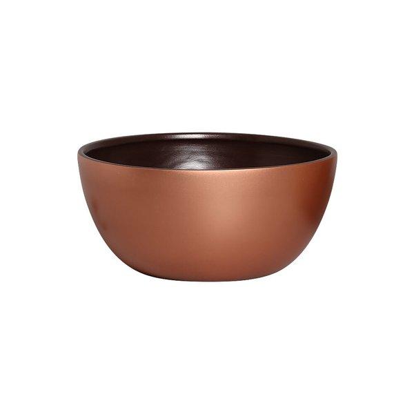 Cachepot Arredondado Marrom E Bronze