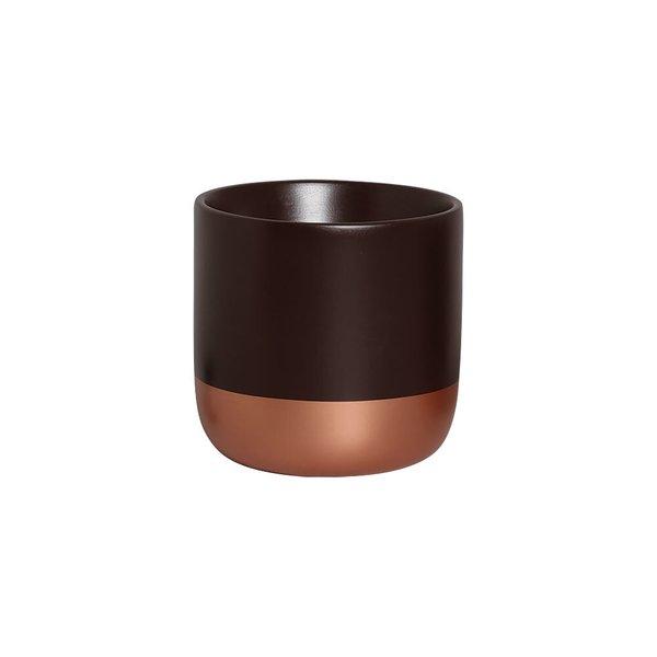 Cachepot M Marrom E Bronze