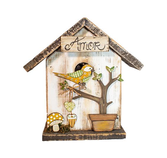 Casa De Pássaros Decorativas - J003