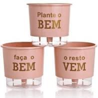 Conjunto Vaso 03 - Plante O Bem - Rosa Quartz