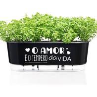 Jardineira Autoirrigavel Preto - O Amor E O Tempero Da Vida