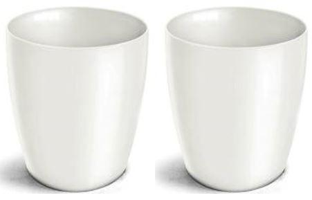 Kit 2 Vasos Cachepo Elegance Redondo 05 Branco