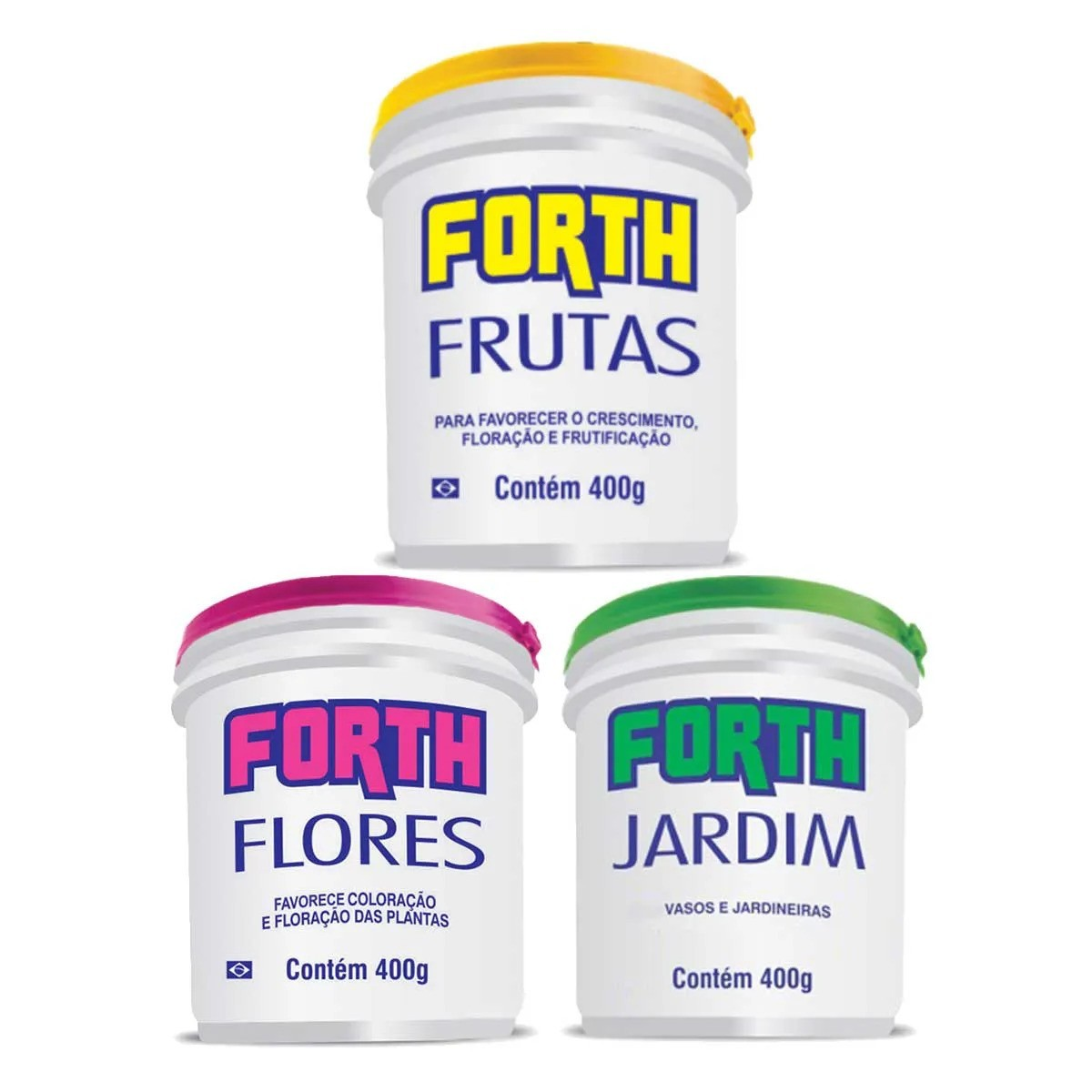 Kit Fertilizante Forth Jardim Flores Frutas 400G