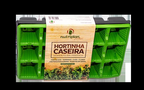 Kit Horta Sementeira - Jardineira 35 Branca Semente Manjericão Alfavaca
