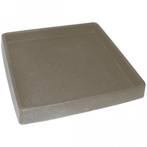 Prato Quadrado Texturizado 33 Cimento