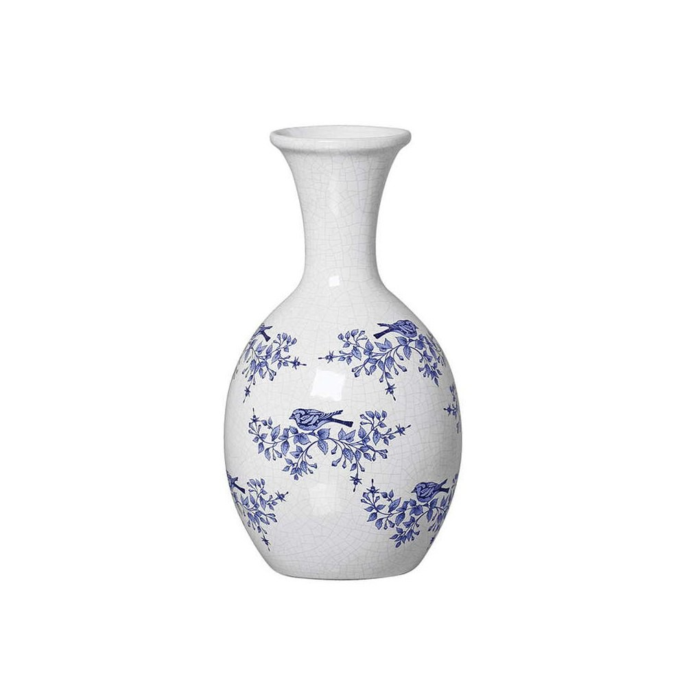 Vaso Alto  Zibo Chinesa Br. C/ Azul Premium