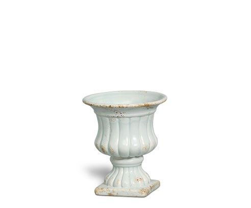 Vaso Romano Cerâmica Pequeno Branco