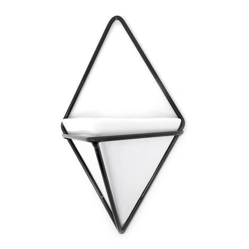 Vaso Branco Triangular Linha Vasos De Parede