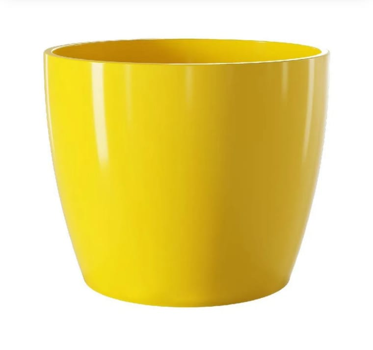Vaso Ceramico Munique Amarelo 16