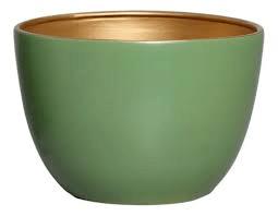Vaso De Chão Verde e Dourado P Novel - 5751