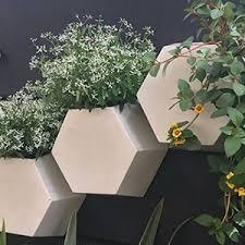 Vaso De Parede Colmeia 30 X 30 Cm Antique Branco