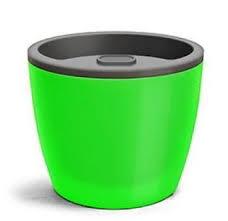 Vaso Elegance Autoirrigavel 03 Verde Neon