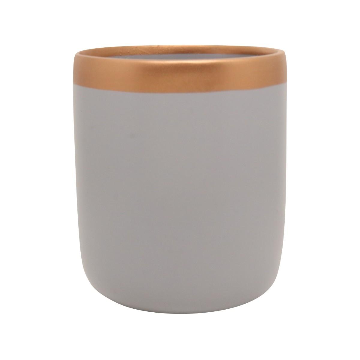 Vaso Para Suculenta Cinza e Bronze G Novel - 5762