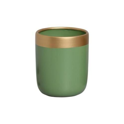 Vaso Para Suculenta Verde e Dourado G Nove - 5754