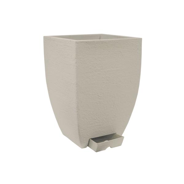 Vaso Quadrado Moderno Duo 48 Cimento