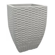 Vaso Quadrado Vime 48 Cimento