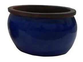 Vaso Vietnamita Bavaria - 34cm x 20cm Cor: Azul