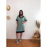 Vestido curto viscolycra decote V
